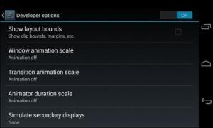 Android Devpl option