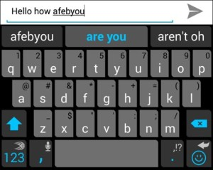 swiftkey prediction